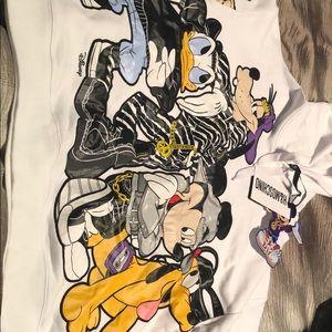 H&M Moschino men's white Disney hoodie
